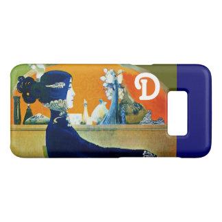 DIVA IN BLUE ,BEAUTY FASHION MONOGRAM Case-Mate SAMSUNG GALAXY S8 CASE