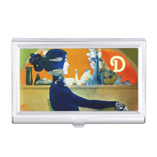 DIVA IN BLUE MONOGRAM Beauty Salon ,Makeup Artist Business Card Cases
