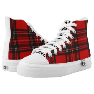 Diva in Plaid High Tops