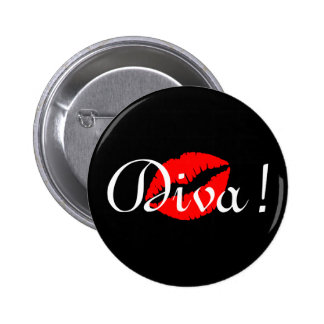 Diva Kiss 6 Cm Round Badge