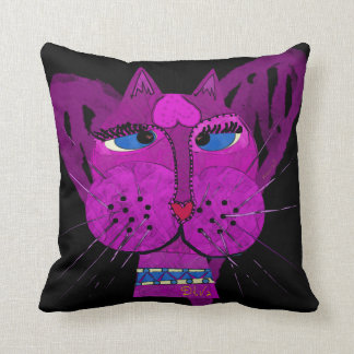Diva Kitty Throw Pillow