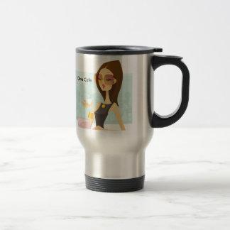 Diva LADY LOGO, Diva Cafe Stainless Steel Travel Mug