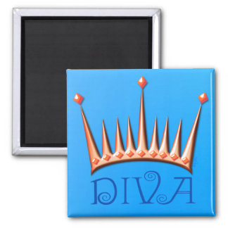 Diva magnet in nectarine and blue