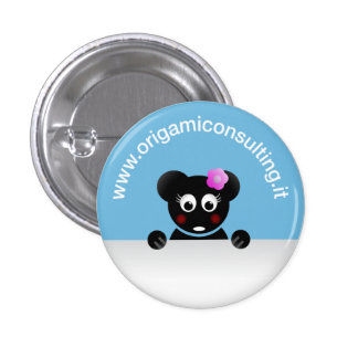 Diva Meneghina - Origami Consulting 3 Cm Round Badge
