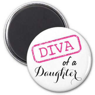 DIVA of a Daughter 6 Cm Round Magnet