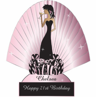 Diva Party Girl Standing Photo Sculpture