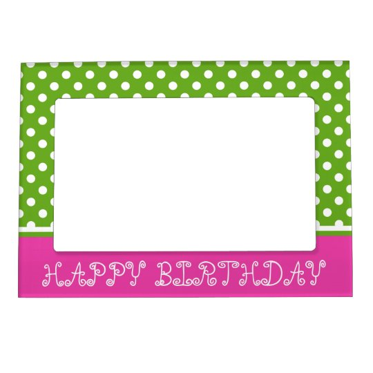 Diva Pink and Green Apple Polka Dot Personalised