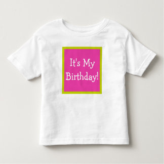 Diva Pink and Tropical Lime Happy Birthday Song Tee Shirt