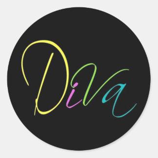 """""""Diva"""" Round Sticker"""