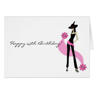 Diva s 45th Birthday Card for Women