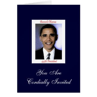 Diva s Obama Inauguration Party Invitation Greeting Cards