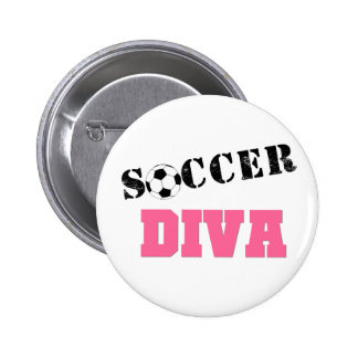 Diva Soccer 6 Cm Round Badge