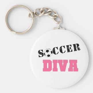Diva Soccer Keychain