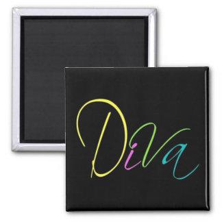 """""""Diva"""" Square Magnet"""