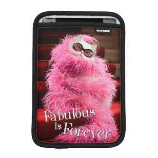Diva White Cat Wrapped in Pink Boa on Red Carpet iPad Mini Sleeve