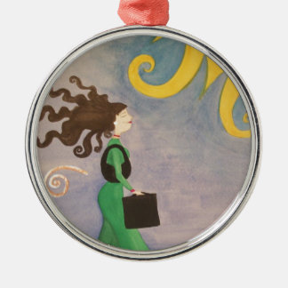 Diva Working Woman Christmas Ornament