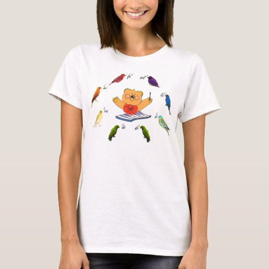 Divabear Leading Musical Birds T-Shirt