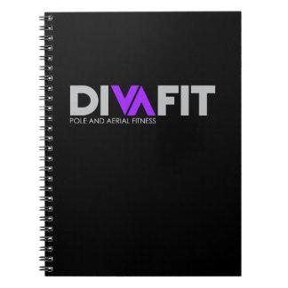 DivaFit Spiral Notebook (Dark)