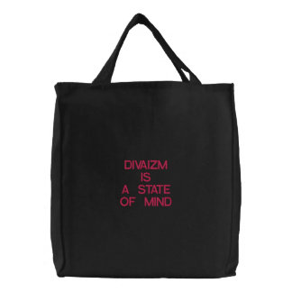 DIVAIZM IS A STATE OF MIND EMBROIDERED BAG