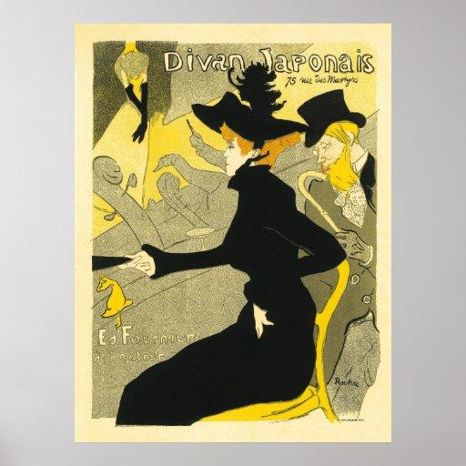 Divan japonais by henri de toulouse lautrec poster zazzle for Divan japonais poster value