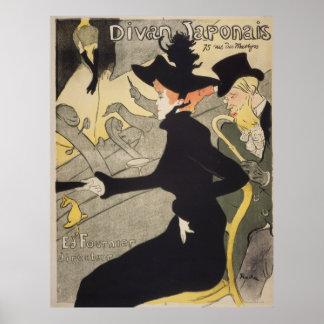 Divan Japonais by Toulouse-Lautrec Vintage Poster