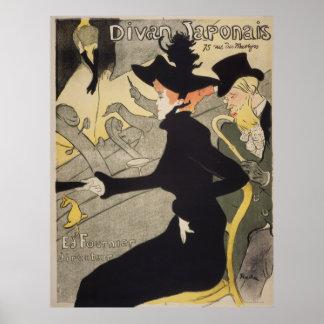Divan Japonais Toulouse-Lautrec Vintage Lithograph Poster
