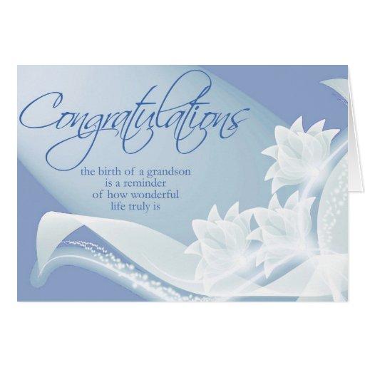 Diva's Congratulations-New Grandson Greeting Card | Zazzle