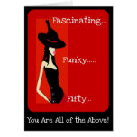 Diva's Fascinating and Funky 50th Birthday Card