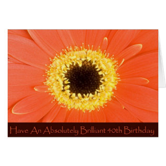 Diva's Floral 40th Birthday Card for Women