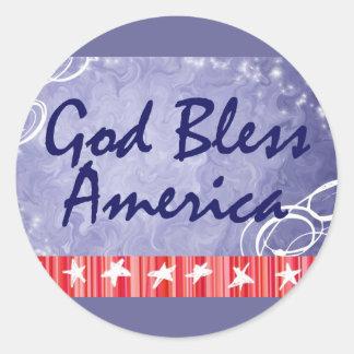 Diva's God Bless America Stickers