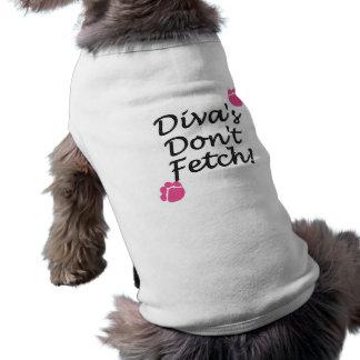DIVASDONTFETCH SLEEVELESS DOG SHIRT