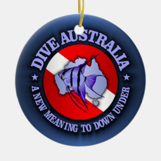 Dive Australia (rd) Christmas Ornament