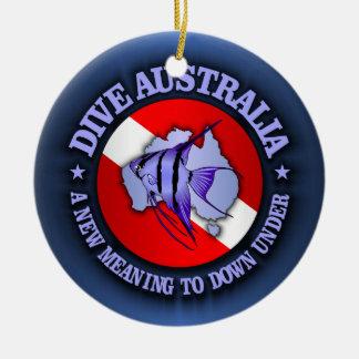 Dive Australia (rd) Round Ceramic Decoration