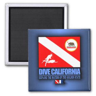 Dive California Square Magnet
