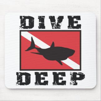 Dive Deep Shark SCUBA Flag Mouse Mat