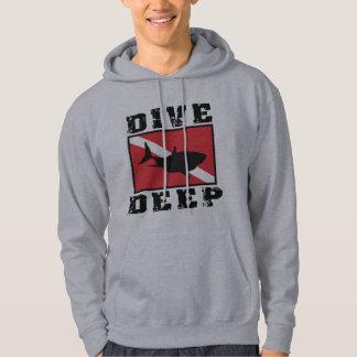 Dive Deep Shark SCUBA Flag Sweatshirt