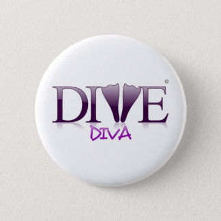 Dive Diva Fins 6 Cm Round Badge