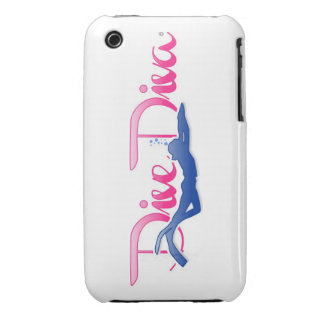Dive Diva Kick iPhone 3 Cases