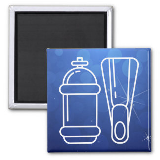 Dive Equipments Sign Square Magnet