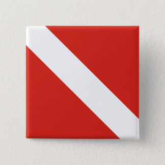 Dive Flag 15 Cm Square Badge