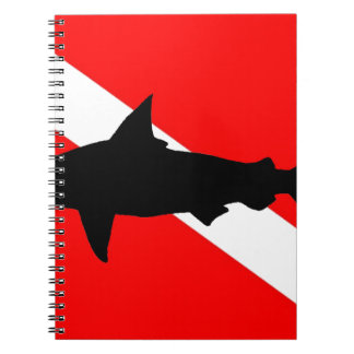 Dive Flag Hammerhead Shark II Spiral Note Books
