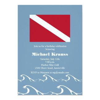 Dive Flag Invitation