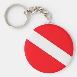 Dive Flag Key Chain