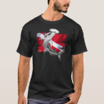 Dive flag with hammerhead shark-diver down T-Shirt