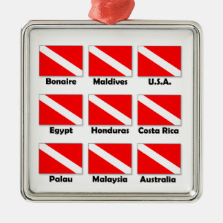 Dive Flags of the World Christmas Ornament