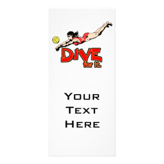 dive for it womens volleyball design customised rack card
