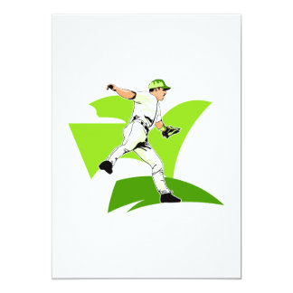 Dive for the ball Player 13 Cm X 18 Cm Invitation Card