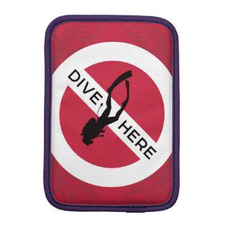Dive Here iPad Mini Sleeve
