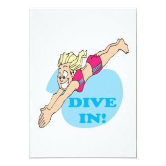 Dive In 13 Cm X 18 Cm Invitation Card