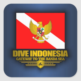 Dive Indonesia 2 Square Sticker